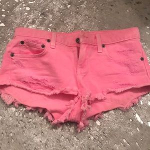 Carmar denim shorts pink size 24
